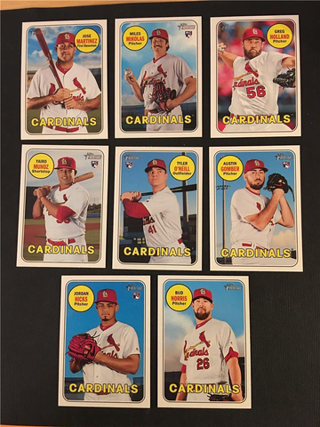 2018 Topps Heritage St. Louis Cardinals High Number Base Team Set