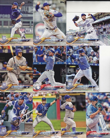 2018 Topps Series 1 Team set - KANSAS CITY ROYALS  (10 cards)