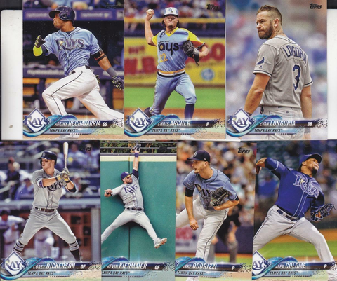 2018 TOPPS Series 1 team set - TAMPA BAY RAYS  (7 cards)