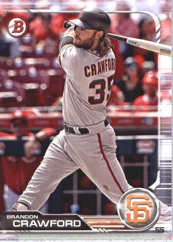 2019 Bowman Baseball  #57 Brandon Crawford - San Francisco Giants