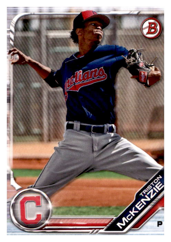 2019 Bowman Prospects Team Set - Cleveland Indians