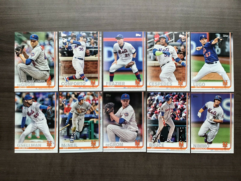 2019 Topps Series 1 Team Set New York Mets (10 Cards)