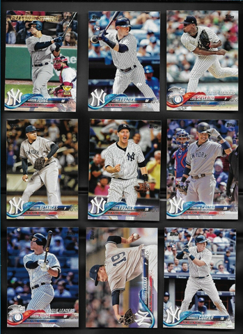 2018 TOPPS Series 1 team set - NEW YORK YANKEES (17 cards)