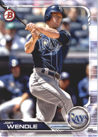 2019 Bowman Baseball  #3A Joey Wendle - Tampa Bay Rays