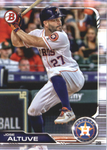 2019 Bowman Baseball  #62 Jose Altuve - Houston Astros