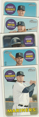 2018 Topps Heritage SEATTLE MARINERS High Number Base Team Set