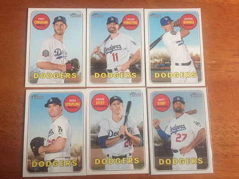 2018 Topps Heritage High Number Los Angeles Dodgers Team Set