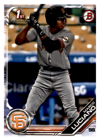 2019 Bowman Prospects Team Set - San Francisco Giants