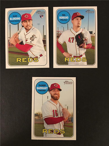 2018 Topps Heritage Cincinnati Reds High Number Base Team Set
