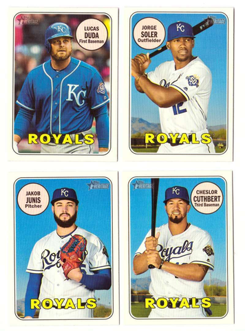 2018 Topps Heritage KANSAS CITY ROYALS High Number Base Team Set