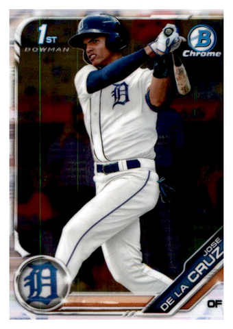 2019 Bowman Chrome Prospects Team Set - Detroit Tigers Series 1