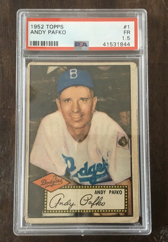 1952 Topps Andy Pafko #1 Red Back PSA 1.5 FR Brooklyn Dodgers