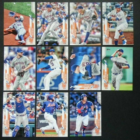 2020 Topps Series 2 Team Set - New York Mets (11 Cards)