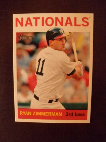2013 Topps Heritage Washington Senators Uniform Variation Insert-Ryan Zimmerman