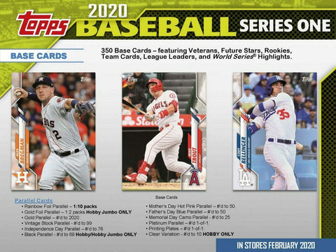 2020 Topps Series 1 Los Angeles Dodgers Team Set (17 Cards)