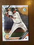 2019 Bowman Chrome Prospects Team Set - San Francisco Giants Series 1