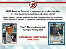 2020 Bowman Base Team Set - Cleveland Indians (6 Cards)