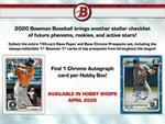 2020 Bowman Base Team Set - New York Yankees (2 Cards)