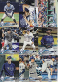 2018 Topps Series 1 & 2 & Update Team Set - Tampa Bay Rays (29 Cards)