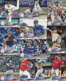 2018 Topps Series 1 & 2 & Update Team Set - Texas Rangers (31 Cards)