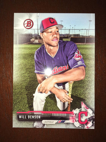 2017 Bowman Draft Will Benson #BD56 Silver 249/499 Indians