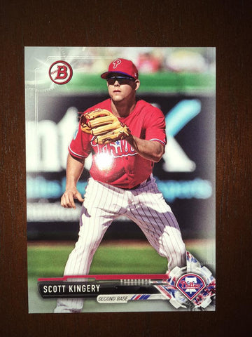2017 Bowman Draft Scott Kingery #BD114 Silver 019/499 Phillies