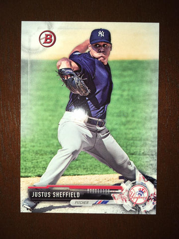2017 Bowman Draft Justus Sheffield #BD140 Yankees