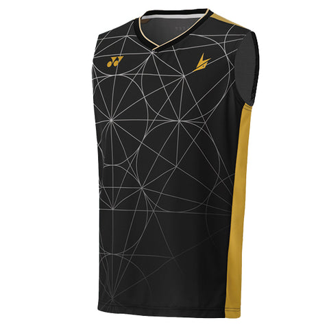 Yonex 10333 Mens Sleeveless Shirt - Black