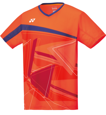 Yonex 10334 Men's Crew Neck Shirt - Flash Orange