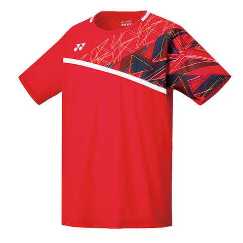 Yonex 10335 Men's Crew Neck Shirt - Flash Red (Donated by Badminton Player Marcus Ellis)