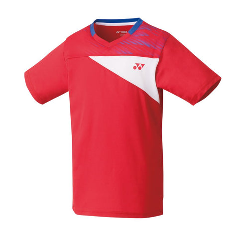 Yonex 10347J Junior Crew Neck Shirt - Flash Red