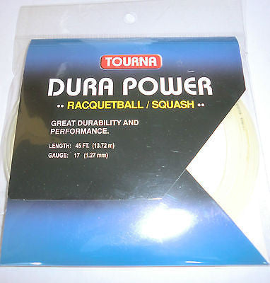 Tourna Dura Power Squash / Racquetball String Set - 17g / 1.27mm