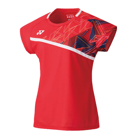 Yonex 20522 Women's Crew Neck Shirt - Flash Red