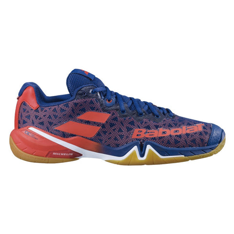 Babolat Shadow Tour Mens Badminton Shoes - Estate Blue/Orange (2020)