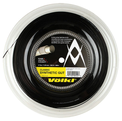 Volkl Classic Synthetic Gut 200m Tennis String Reel