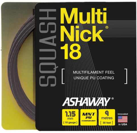 Ashaway MultiNick 18 Squash String Set - 1.15mm