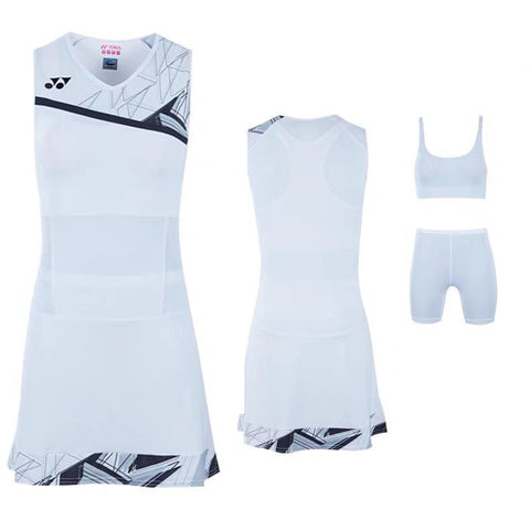 Yonex 20524EX Women's Tournament Dress - White  (Donated by Badminton Player Lauren Smith)