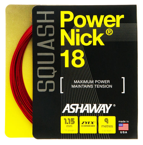 Ashaway PowerNick 18 Squash String Set - 1.15mm