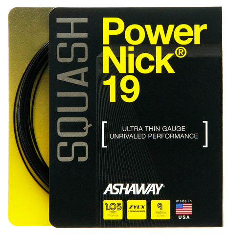 Ashaway PowerNick 19 Squash String Set - 1.05mm