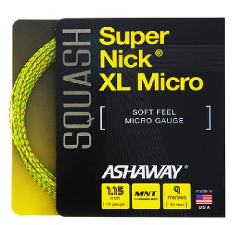 Ashaway SuperNick XL Micro Squash String Set - 1.15mm