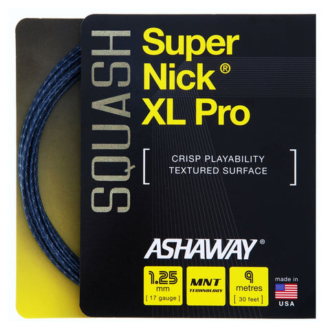 Ashaway SuperNick XL Pro Squash String Set - 17 / 1.25mm
