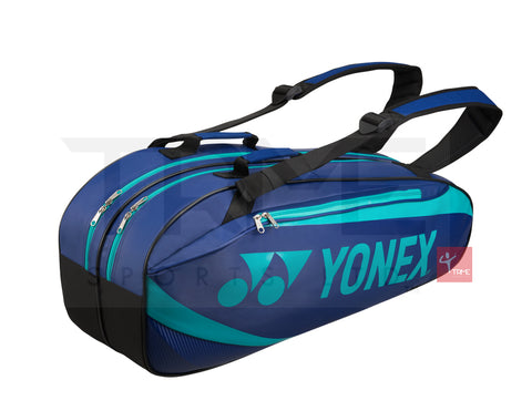 Yonex 8926 Active 6 Racket Bag - Aqua Blue/Navy