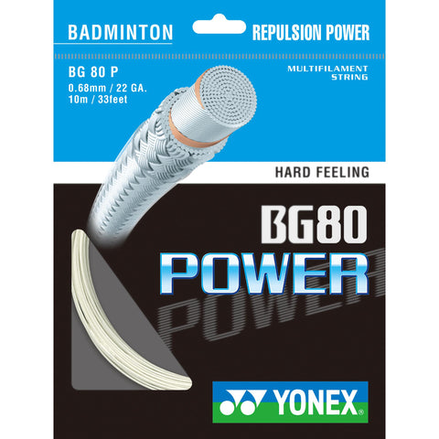Yonex BG80 Power Badminton String Set - White