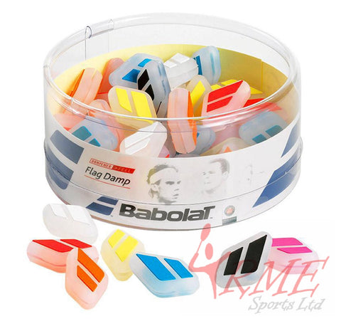 Babolat Flag Damp Tennis Vibration Absorber (Jar of 50 Assorted Colours)