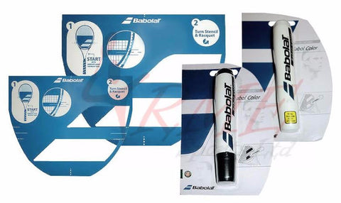 Babolat Tennis and Badminton Stencil and Marker Pack