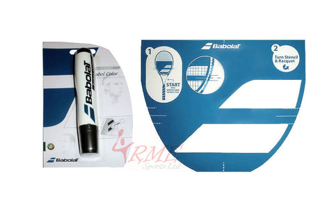 Babolat Tennis Racket String Stencil and Black Ink Marker