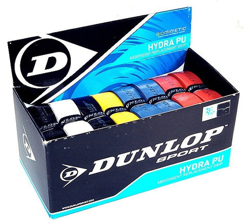 Dunlop Hydra PU Tennis, Squash, Badminton Grip - 24 Assorted Colours