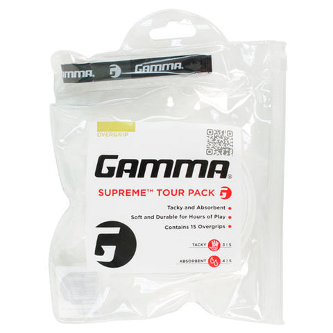 GAMMA Supreme Overgrip (15 Grip Pack)