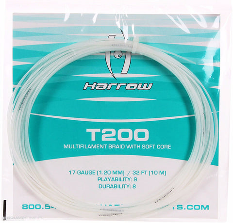 HARROW T200 Squash String Set - 17/1.20mm Crystal