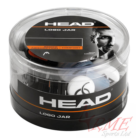 Head Logo Vibration Stopper (Jar of 70 assorted colours)